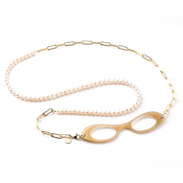MCH003GP Pearl & Chain