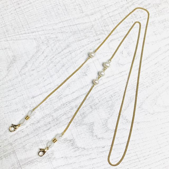 Glasses & Mask & Loupe Chain pearl