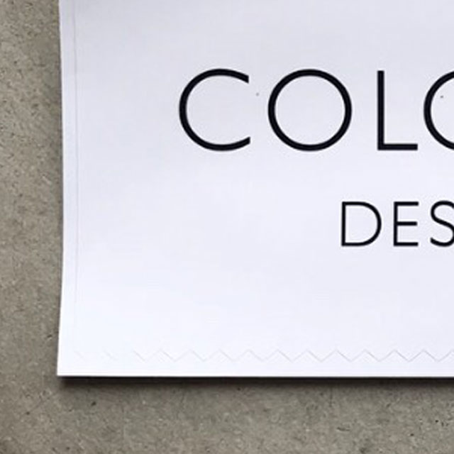 COLOR LABEL DESIGN OFFICEオリジナルビッグステッカーホワイト