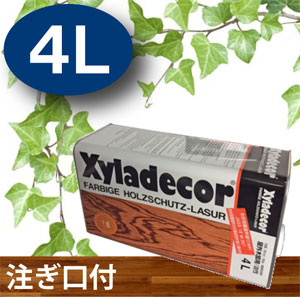 【キシラデコール 4L】 注ぎ口付 選べる15色 大阪ガスケミカル株式会社