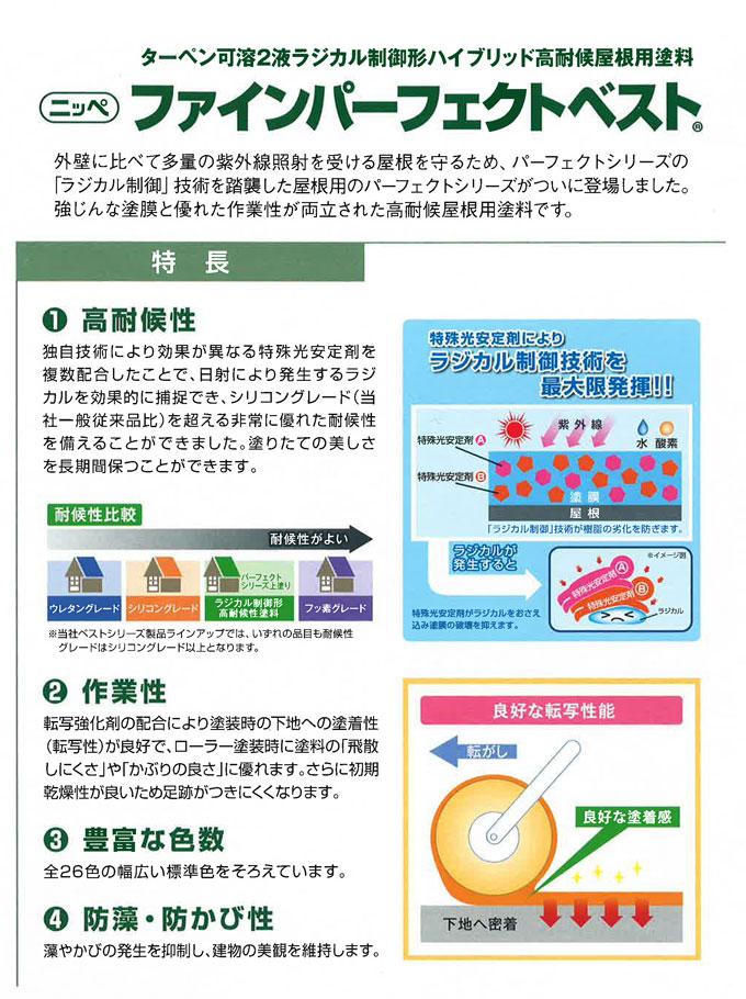 【ニッペ ファインパーフェクトベスト 14kgセット】 日本ペイント株式会社