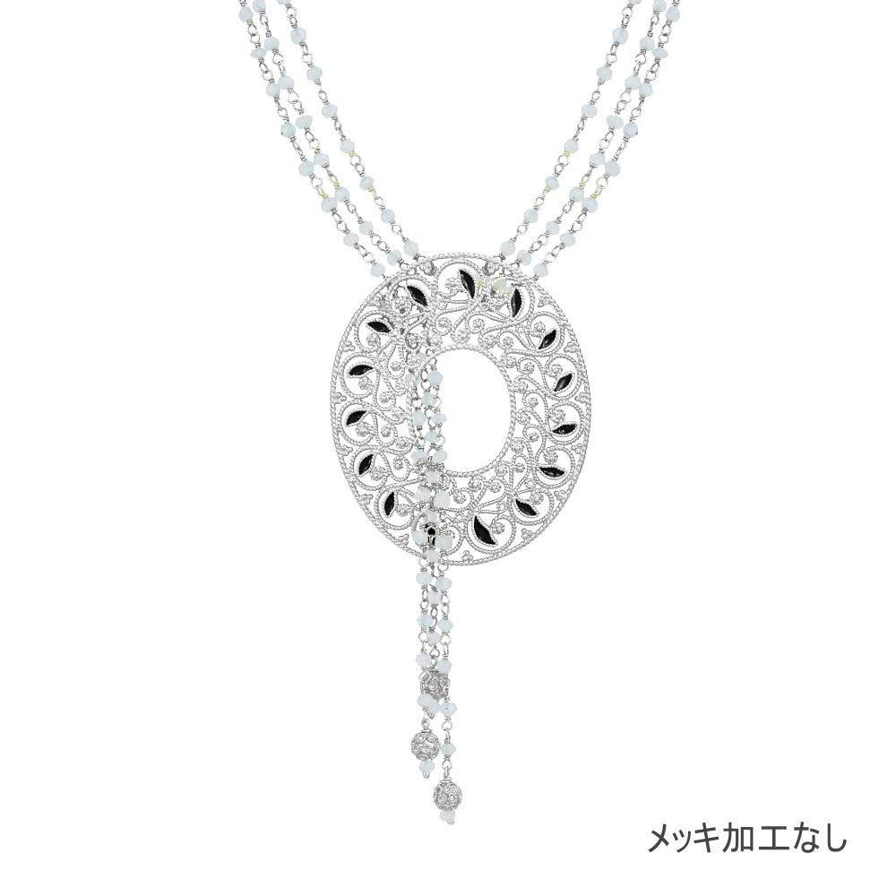 NANA ラウンドネックレス/シルバー/銀線細工