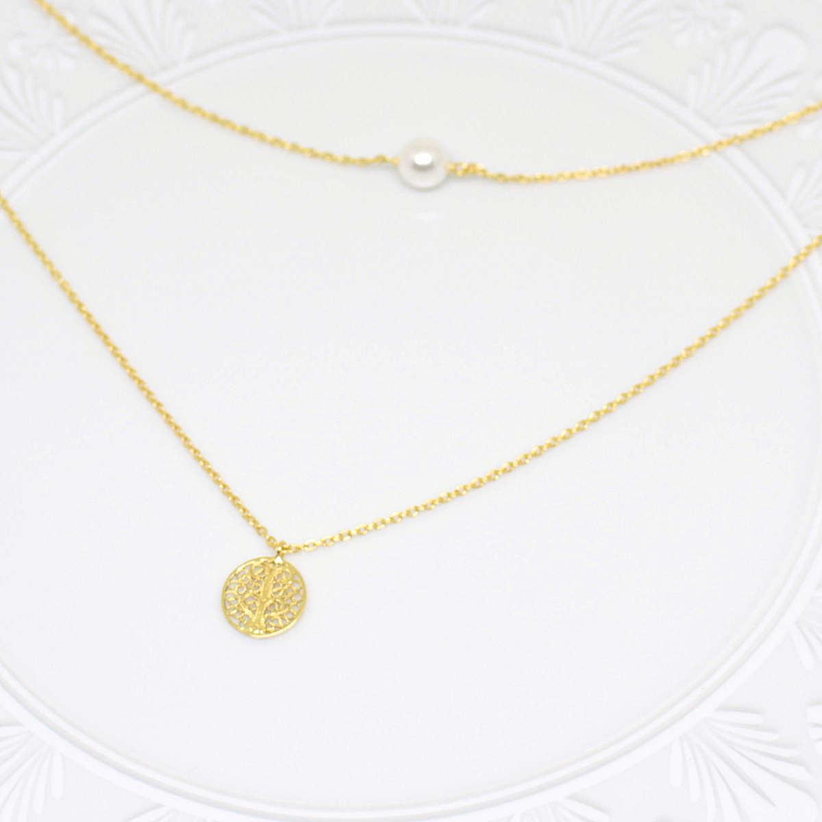 SOPHIA インティメイト ネックレス ゴールド/銀線細工・金線細工