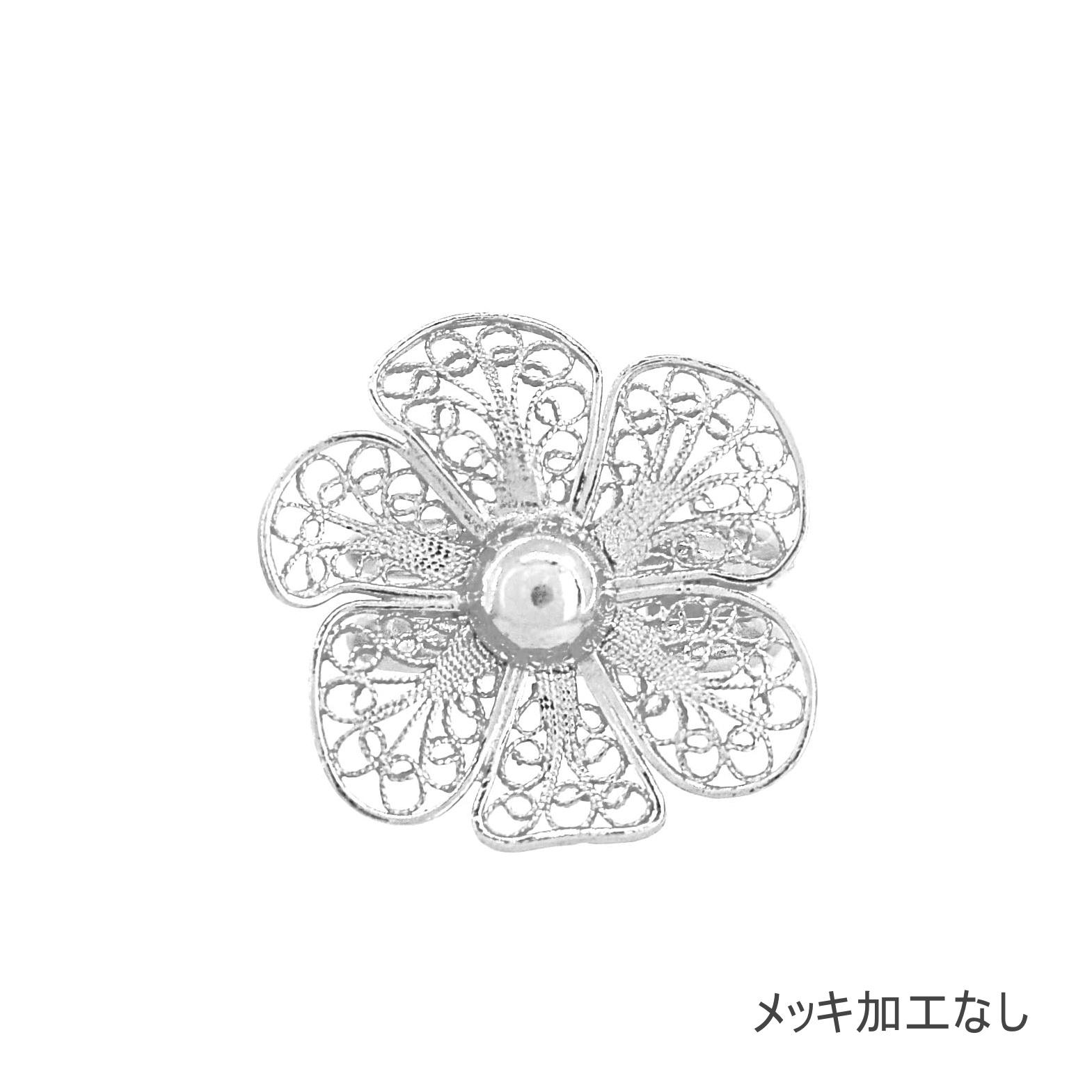 NANA フローラルリング/シルバー/銀線細工