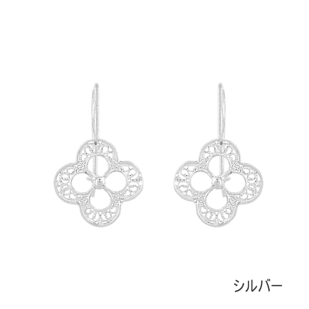 NANA ラッキーミーピアス/シルバー/銀線細工