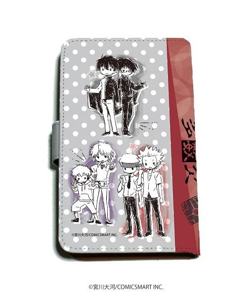 手帳型マルチケース「多数欠」01/線画デザイン(グラフアート)