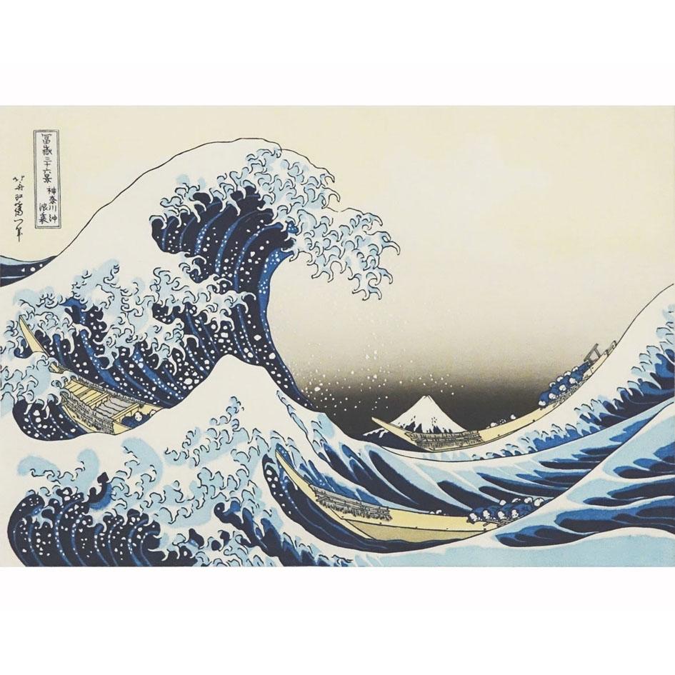 葛飾北斎「神奈川沖浪裏」復刻版(シート)