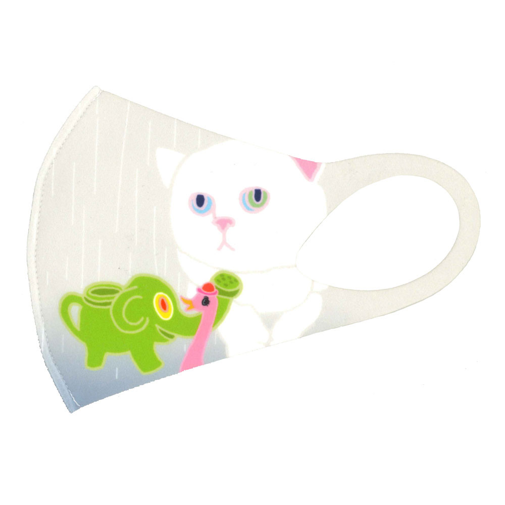 ミヤケマイ ART MASK Rain cats
