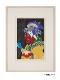 横尾忠則 浮世絵木版画  「摺れ摺れ草-三代目佐野川市松の祇園町の白人おなよ」