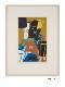 横尾忠則 浮世絵木版画  「摺れ摺れ草-三代目坂東彦三郎の鷺坂左内」