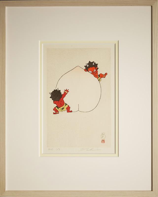 瀧下和之「桃太郎図 かくれんぼ。」
