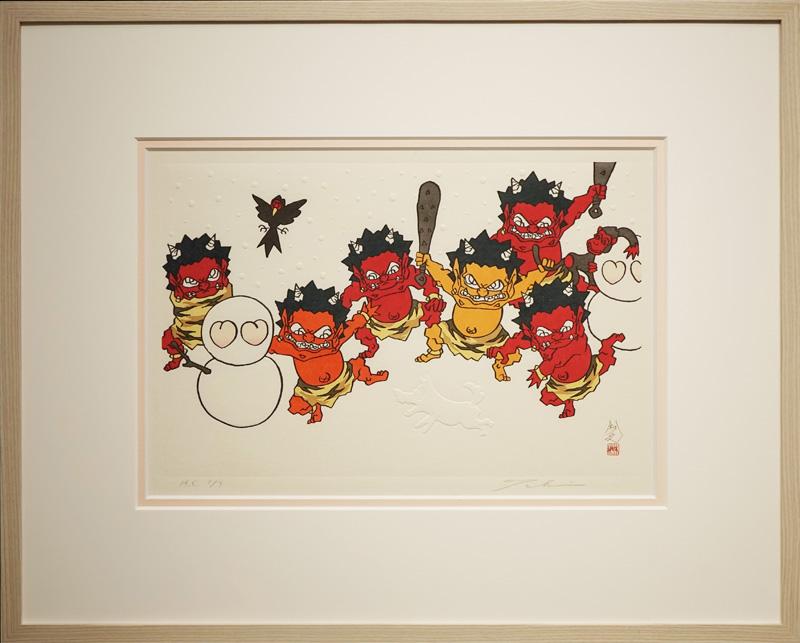 瀧下和之「桃太郎図 ユキヤコンコ。」