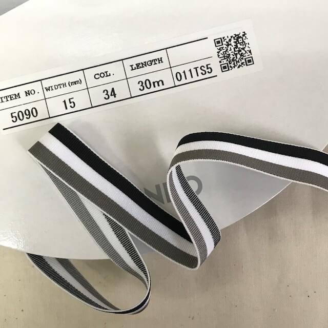 SIC-5090:ストライプストレッチバインダーテープ(m販売)