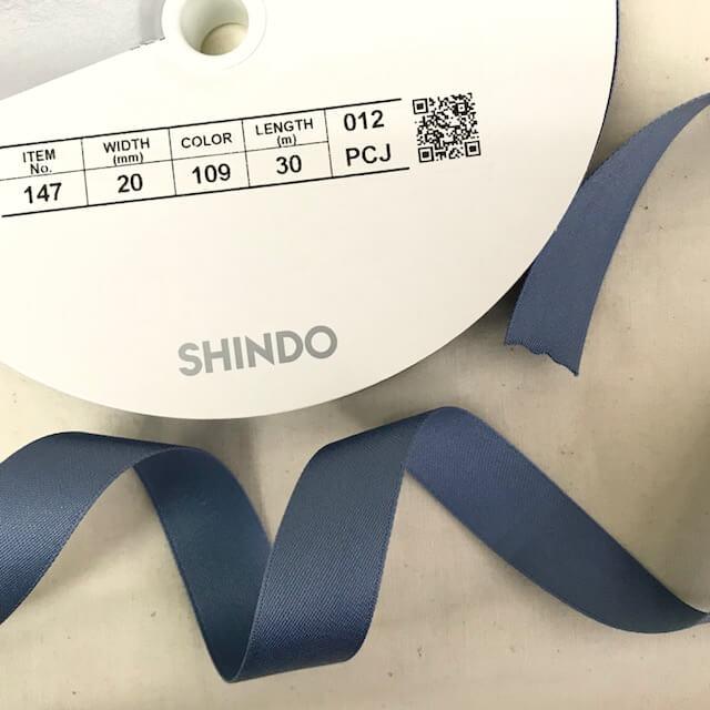SIC-147:コットン両面サテンテープ(m販売)