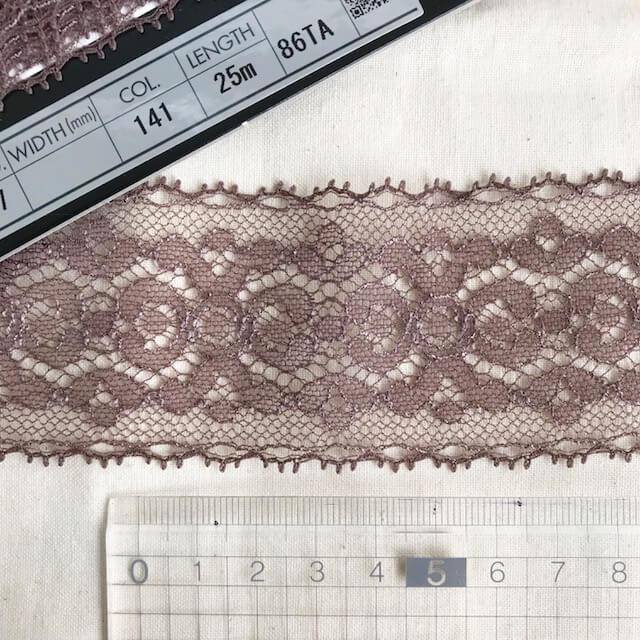 SIC-7827:ジャガードトリミングレース(25m巻販売)
