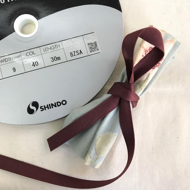 SIC-142:コットン片面サテンリボン(m販売)