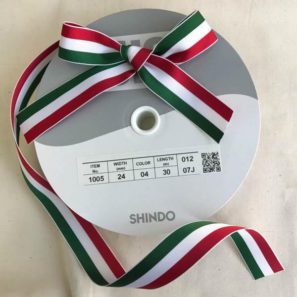 SIC-1005:ポリエステルストライプグログランリボン(m販売)