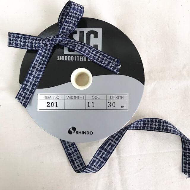SIC-201:チェックリボン(m販売)