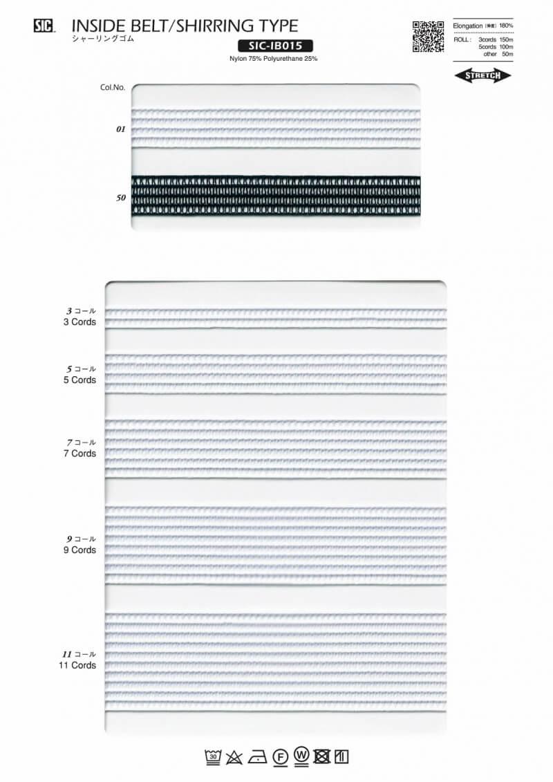 SIC-IB015:シャーリングゴム(50/100/150m巻販売)