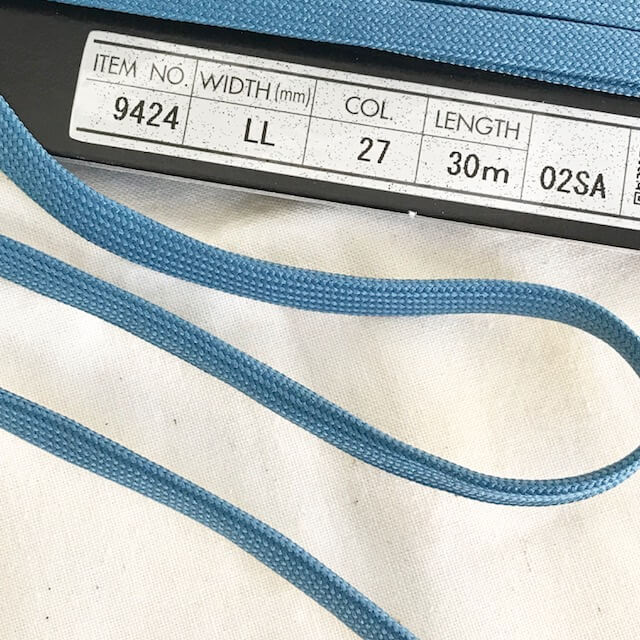 SIC-9424:ポリエステル平コード/石目 (30m巻販売)