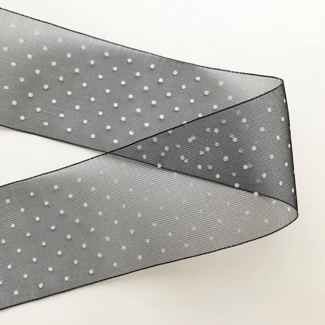 SIC-312:ドットプリントリボン/オーガンジー(30m巻販売)