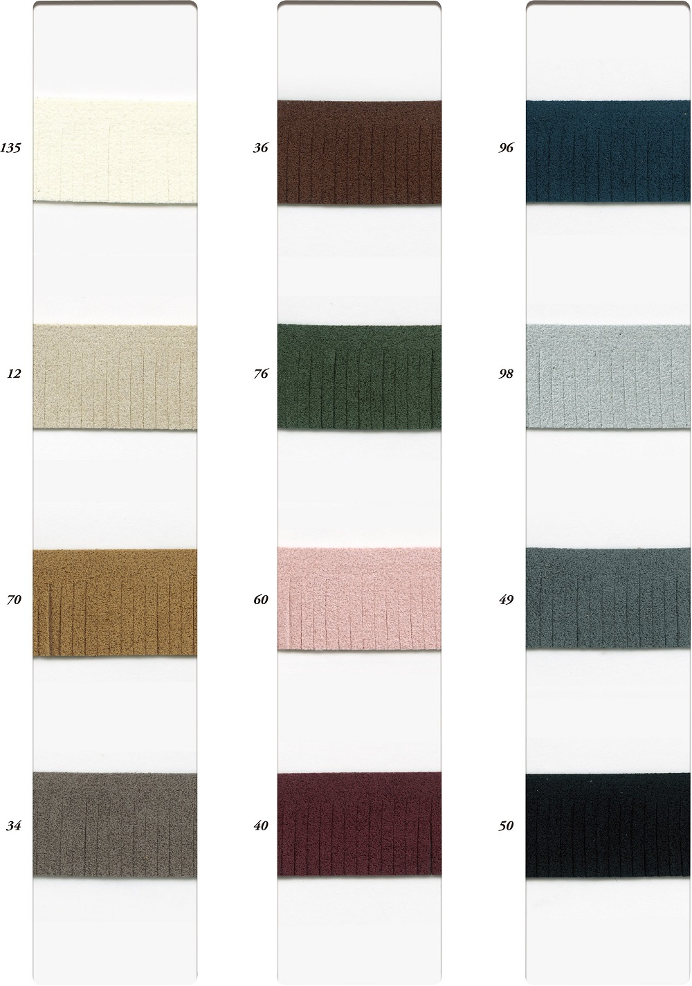 SIC-8861:ウルトラスエードフリンジ/2MM巾(10m巻販売)