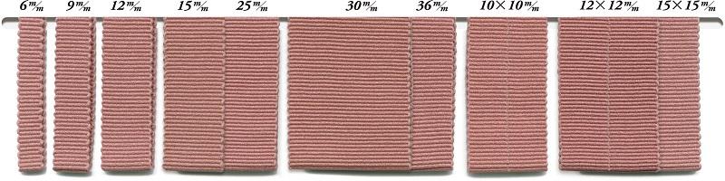 SIC-5033:ソフトストレッチポリエステルペタシャムリボン(30m巻販売)