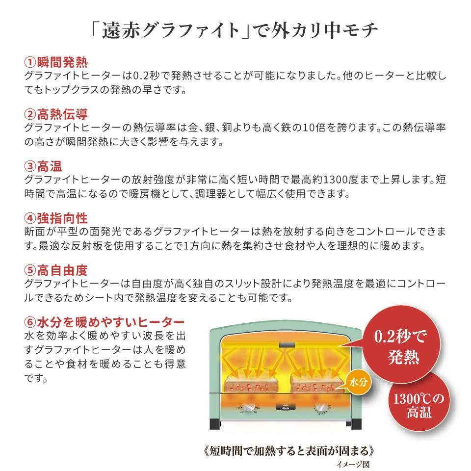 アラジン(Aladdin) 2枚焼き CAT-GS13B[CATGS13B] グリーン グラファイトトースター -人気商品-【代引き、配達日時指定不可】【一部送料別途】
