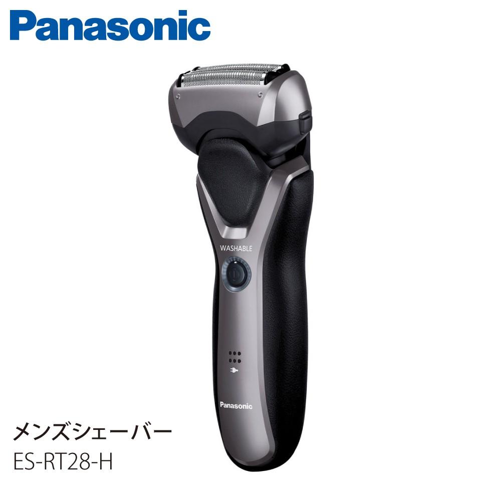 Panasonic パナソニック メンズシェーバー 3枚刃 グレー ES-RT28-H JAN:4549980352564 【代引き・配達日時指定不可】 -KN-