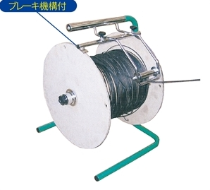 φ450発泡スチロールもφ460ボール紙でも対応が可能!光ドラムリール E-9157