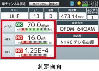 新4K8K衛星放送の測定のみならず、新4K衛星放送の映像・音声の確認もできるデジタルレベルチェッカー LCV4