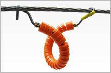 同軸ケーブル・光ファイバーケーブルの延線に新工法! ハンガーローラー(10個組)