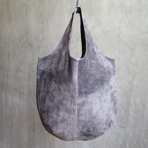 L1530 ウォッシャブル(洗えるレザー) ドロップトートバッグ グレイ [washable drop tote bag / gray]