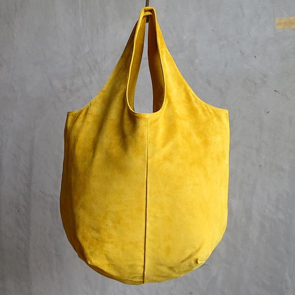 L1530 ウォッシャブル(洗えるレザー) ドロップトートバッグ マスタード[washable drop tote bag / mustard]