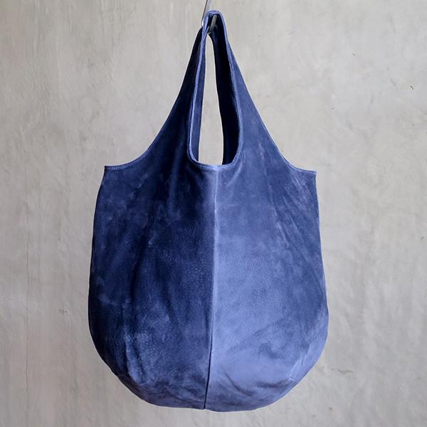 L1530 ウォッシャブル(洗えるレザー) ドロップトートバッグ ネイビー [washable drop tote bag / navy]