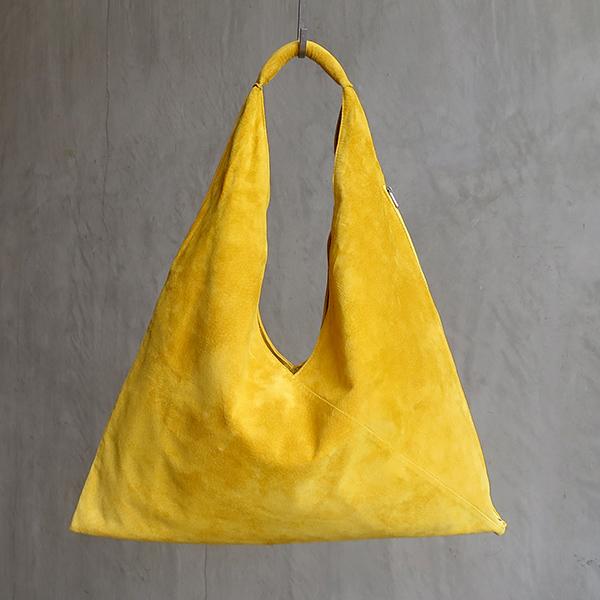L1650 ウォッシャブル(洗えるレザー) トライアングルバッグ マスタード [washable triangle bag / mustard]