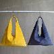L1650 ウォッシャブル(洗えるレザー) トライアングルバッグ ネイビー [washable triangle bag / navy]