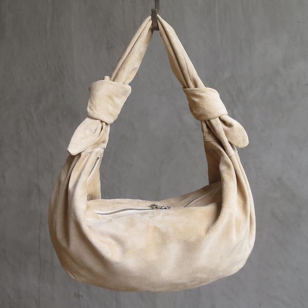 L1645 ウォッシャブル(洗えるレザー) クレセントバッグ ベージュ [washable crescent bag /beige]