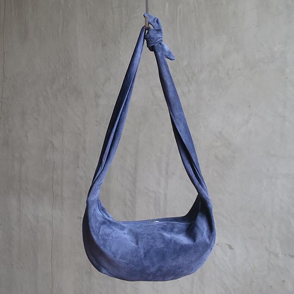 L1645 ウォッシャブル(洗えるレザー) クレセントバッグ ネイビー [washable crescent bag / navy]