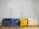 L1652 ウォッシャブル(洗えるレザー) クラッチポーチMサイズ マスタード [washable clutch pouch M / mustard]