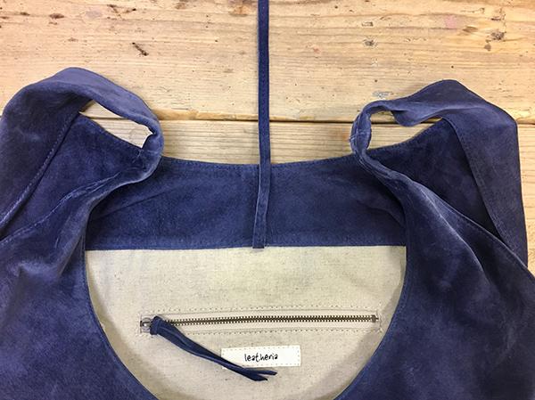 L1426 ウォッシャブル(洗えるレザー) ショッピングバッグ グレイ [washable shopping bag / gray]