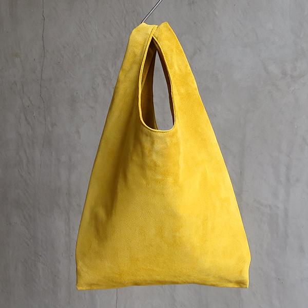L1426 ウォッシャブル(洗えるレザー) ショッピングバッグ マスタード  [washable shopping bag / mustard]