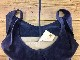 L1426 ウォッシャブル(洗えるレザー) ショッピングバッグ ネイビー [washable shopping bag / navy]