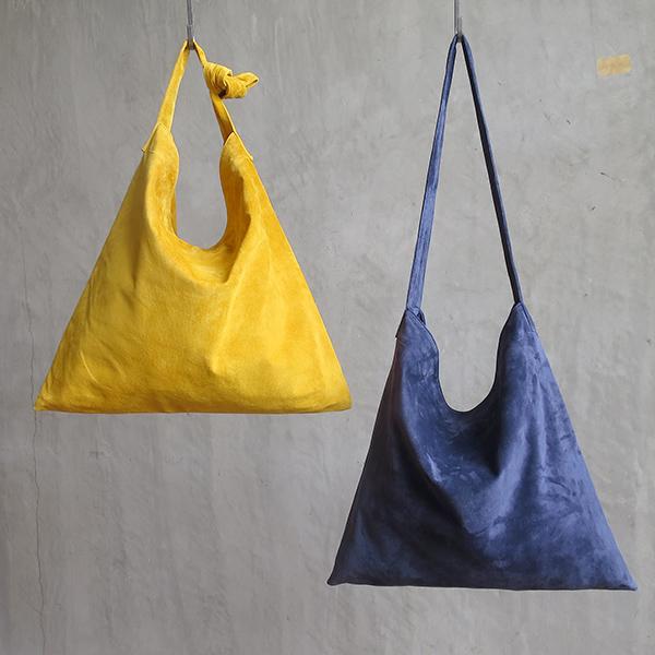 L1427 ウォッシャブル(洗えるレザー) タイショルダーバッグ ネイビー [washable tie shoulder bag / navy]