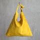 L1427 ウォッシャブル(洗えるレザー) タイショルダーバッグ マスタード [washable tie shoulder bag / mustard]