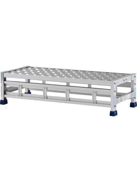 ステンレス金具仕様作業台(天板縞板タイプ) 1段 CMT 天板高さ 250mm 受注生産品 CMT-121S