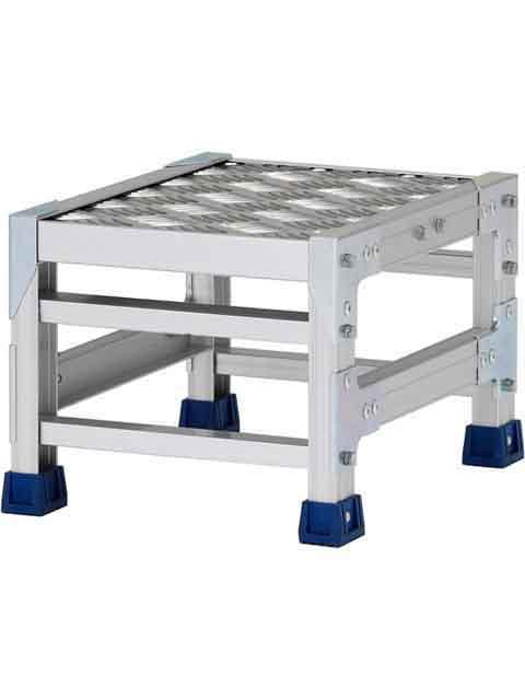 ステンレス金具仕様作業台(天板縞板タイプ) 1段 CMT 天板高さ 250mm 受注生産品 CMT-123S