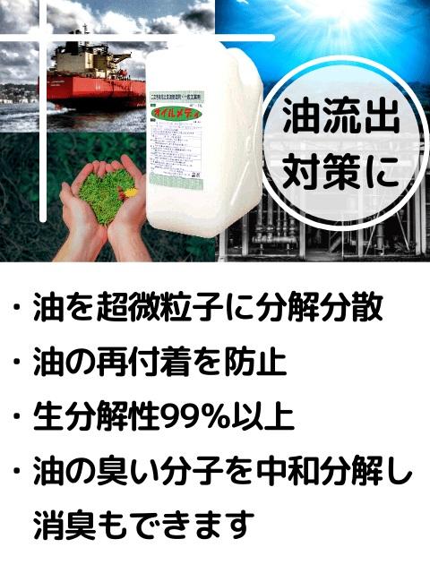 オイルメディ(二次汚染防止型油処理剤) M020
