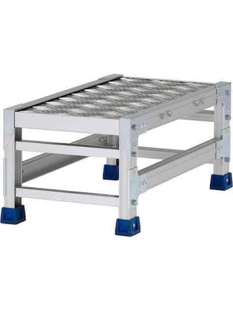 ステンレス金具仕様作業台(天板縞板タイプ) 1段 CMT 天板高さ 250mm 受注生産品 CMT-123WS