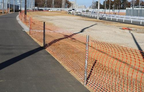 PEフェンス(セーフティーフェンス) オレンジ/グリーン
